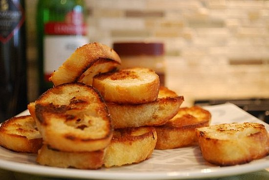 Toasted baguettes
