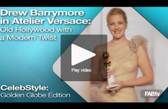 Drew Barrymore in Versace at 2010 Golden Globes