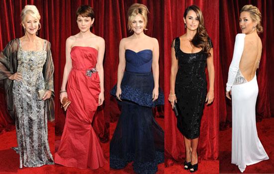 Photos of Helen Mirren, Carey Mulligan, Drew Barrymore, Kate Hudson, Penelope Cruz at SAG Awards 2010 Screen Actors Guild Awards