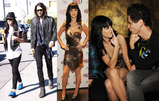 Photos of Russell Brand and Katy Perry Shopping For Furniture and Katy Perry Performing With Cobra Starship at Haze in Las Vegas