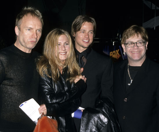 Sting, Jennifer Aniston and Brad Pitt were there to see Elton John named the 2000 MusiCares Person of the Year by the Grammys.