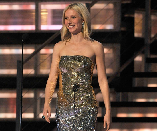 Gwyneth Paltrow wore a sparkly dress to introduce Radiohead in 2009.
