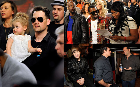 Photos of Nicole Richie, Joel Madden, Harlow Madden, Jennifer Hudson, Justin Bieber, and Jonas Brothers Recording a Haiti Single 2010-02-02 19:00:51