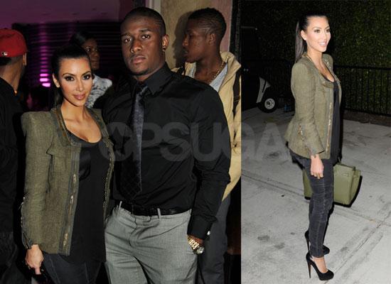 Photos of Kim Kardashian and Reggie Bush Celebrating After the 2010 Super Bowl