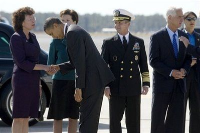 Obama Bow Ouch