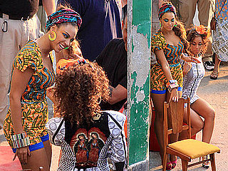 """Photos of Alicia Keys And Beyonce Knowles Filming Their Video For """"Put It In A Love Song"""" Together in Rio"""