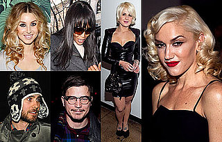 Photos of Celebrities in the Front Row of New York Fashion Week Autumn Fall 2010 Gwen Stefani, Kelly Osbourne, Red Dress Show