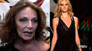 Interview with Diane von Furstenberg at New York Fashion Week 2010 Fall Collection 2010-02-15 16:13:39