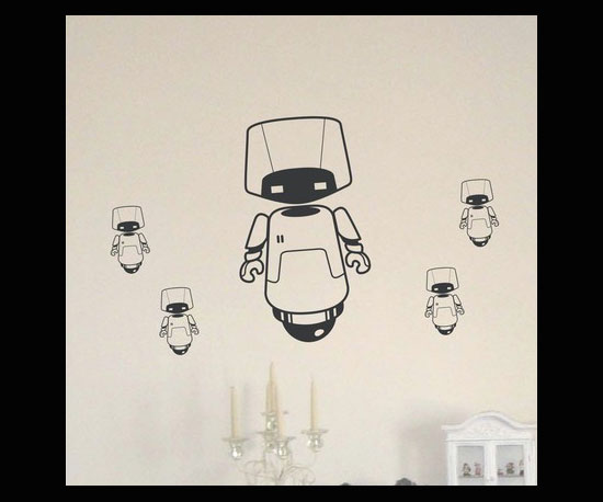 Mama and Baby Bot Wall Decals ($19)