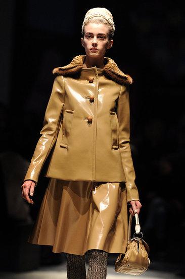 Miuccia Prada Flies Victoria's Secret Models in for Demure Fall 2010 Prada Show