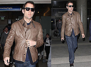 Photos of Clive Owen Arriving at LAX Before the Oscars in LA