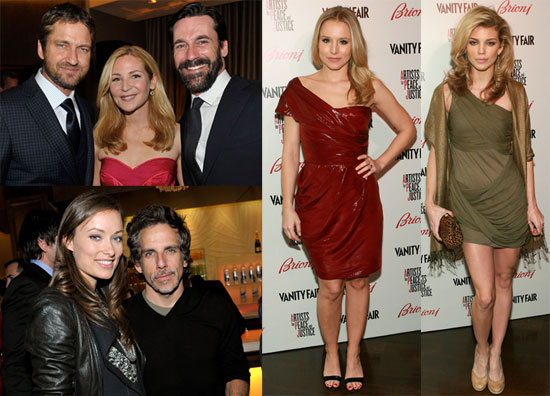 Photos of Ben Stiller, Gerard Butler and Kristen Bell at the 2010 Vanity Fair Oscars Preparty in LA