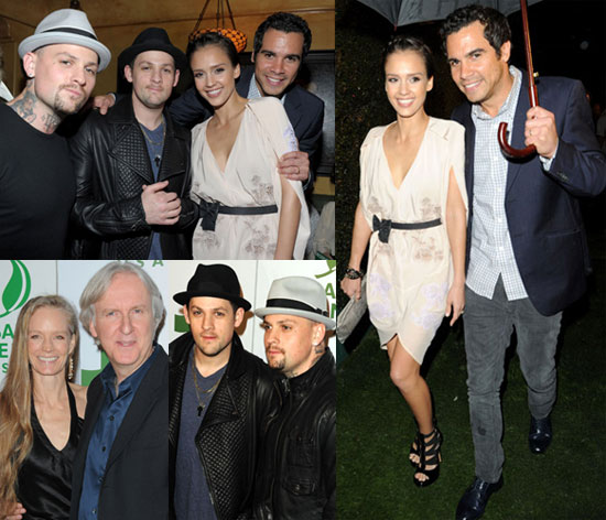 Photos of Jessica Alba, Cash Warren, Joel Madden, Benji Madden, James Cameron, Suzy Amis, Melanie Brown at a Global Green Party 2010-03-04 09:15:00