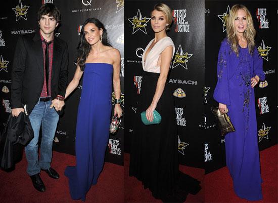 Photos of Demi Moore, Ashton Kutcher, and Rachel Zoe Attending the Hollywood Domino's Pre-Oscar Gala 2010-03-05 12:30:00