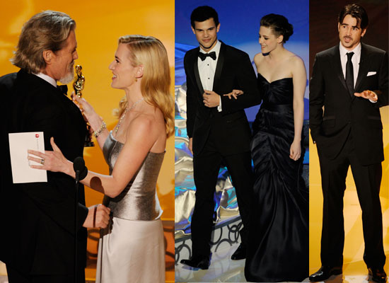 Extensive Gallery of Photos of all the Action Onstage at the Oscars 2010 Including Video of Kristen Stewart and Taylor Lautner