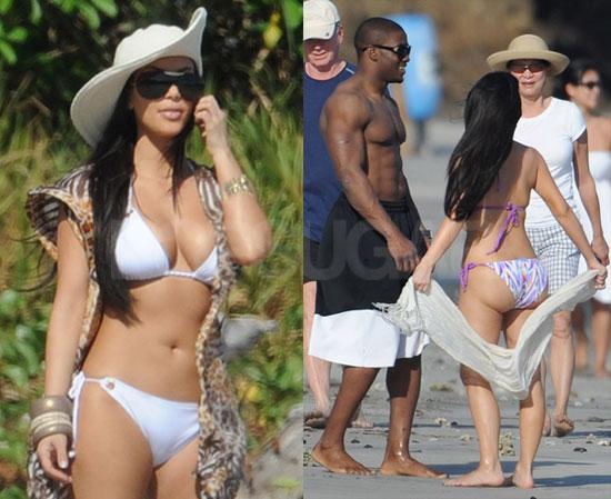 Kim Kardashian Bikini Photos With Shirtless Reggie Bush in Costa Rica