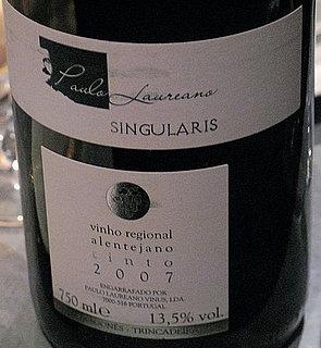 Happy Hour: 2007 Paulo Laureano Singularis