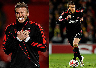 Photos of David Beckham Playing at and Losing in Manchester United's Old Trafford Stadium 2010-03-11 16:00:00