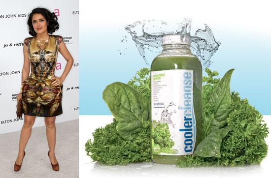 Salma Hayek Has a Juice Cleanse