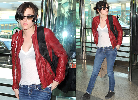 Photos of Kristen Stewart Leaving NYC After Promoting The Runaways