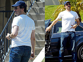Photos of Jon Hamm And Jennifer Westfelt at Their Home in LA
