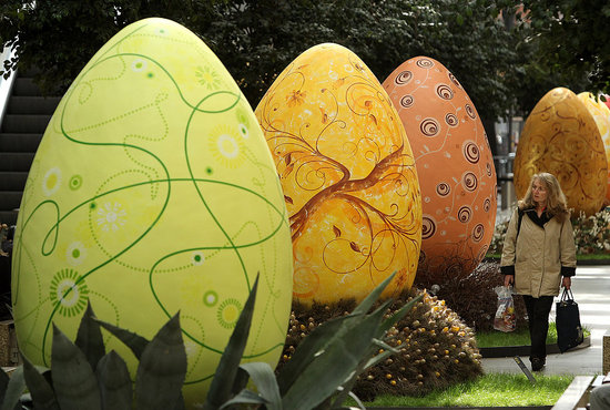 Giant Easter Eggs on Display in Berlin