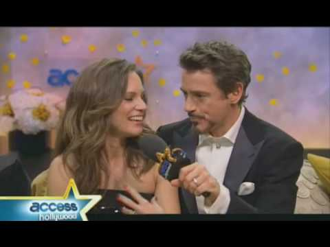 Cute post- GoldenGlobe win interview. Susan and Robert Downey jr