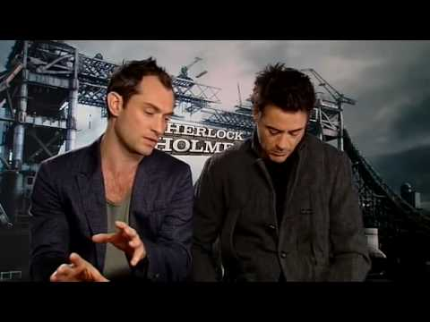Robert Downey Jr and Jude Law on Sherlock Holmes