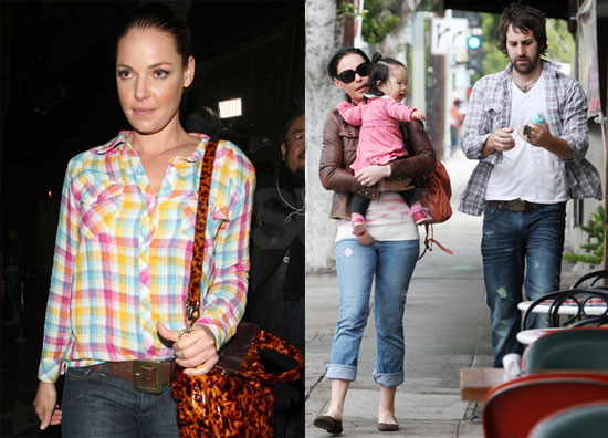 Photos of Katherine Heigl Filming Killers With Daughter Naleigh Kelley After Announcing Departure From Grey's Anatomy in EW