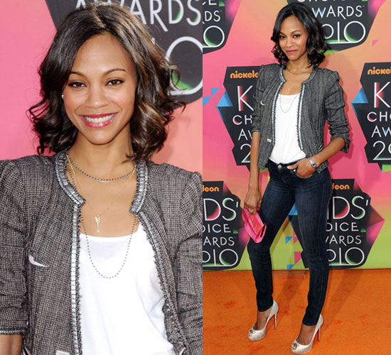 Zoe Saldana at 2010 Kids Choice Awards 2010-03-27 17:55:57