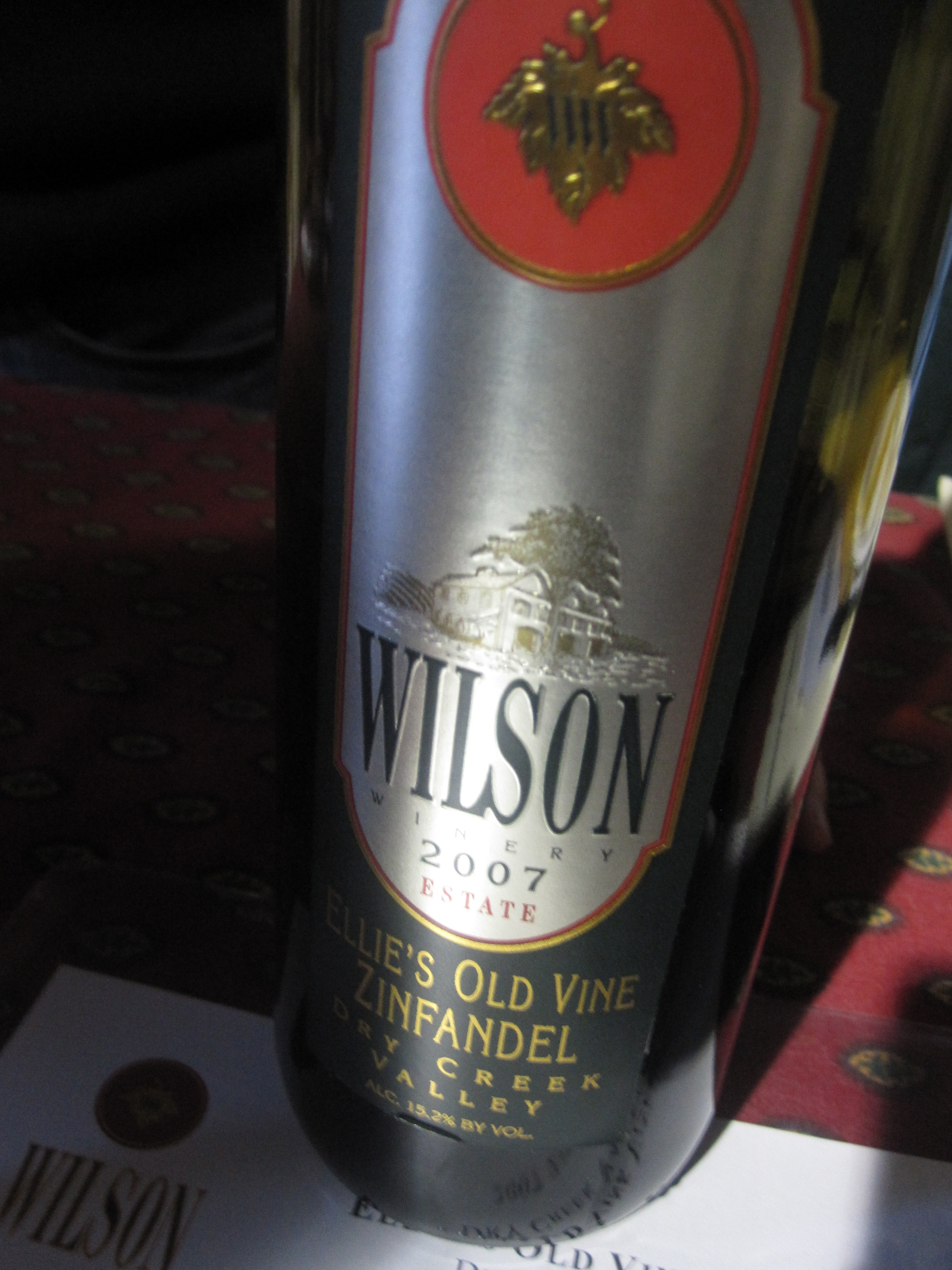 Wilson was on hand pouring Zinfandel.
