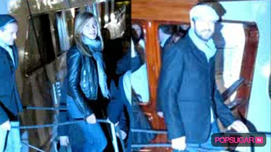 Jennifer Aniston and Gerard Butler at Dinner in Paris