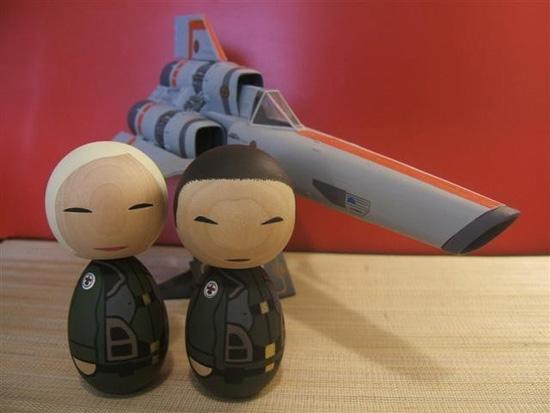 Battlestar Galactica Kokeshi Dolls