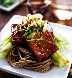 Sesame Noodles With Tofu Steaks Recipe