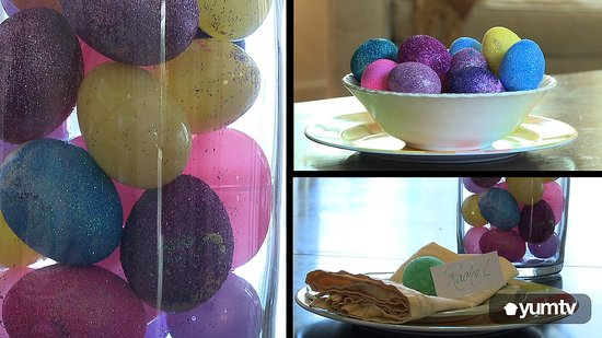 How to Make Glitter Eggs
