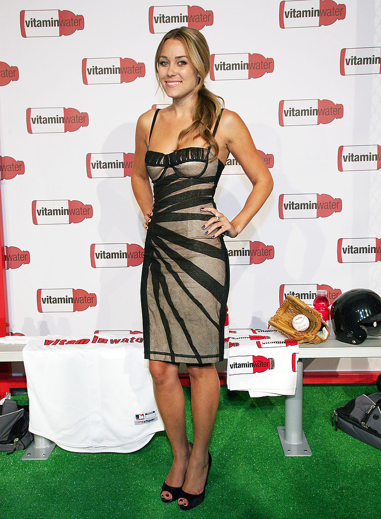 Lauren attends a Vitaminwater party in a sexy overlay dress by D&G in July 2008.