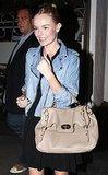 Kate Bosworth in Light Moto Jacket in LA