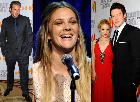 Photos of Celebrities at the GLAAD Awards 2010 including Winners Drew Barrymore and the Glee Cast