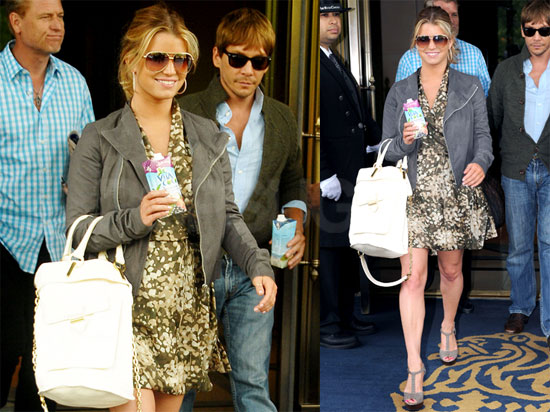 Pictures of Jessica Simpson and Ken Paves Leaving Their NYC Hotel Together
