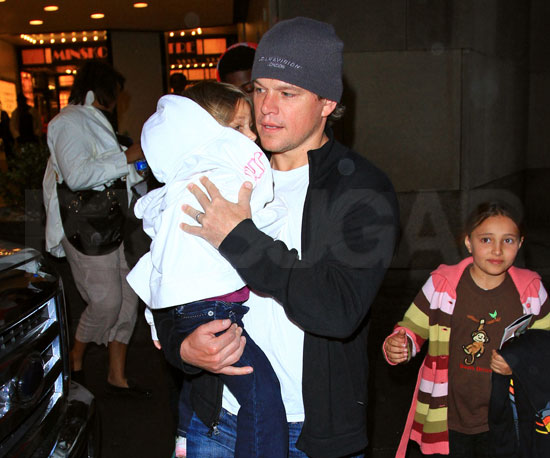 Slide Picture of Matt Damon and Isabella After The Lion King