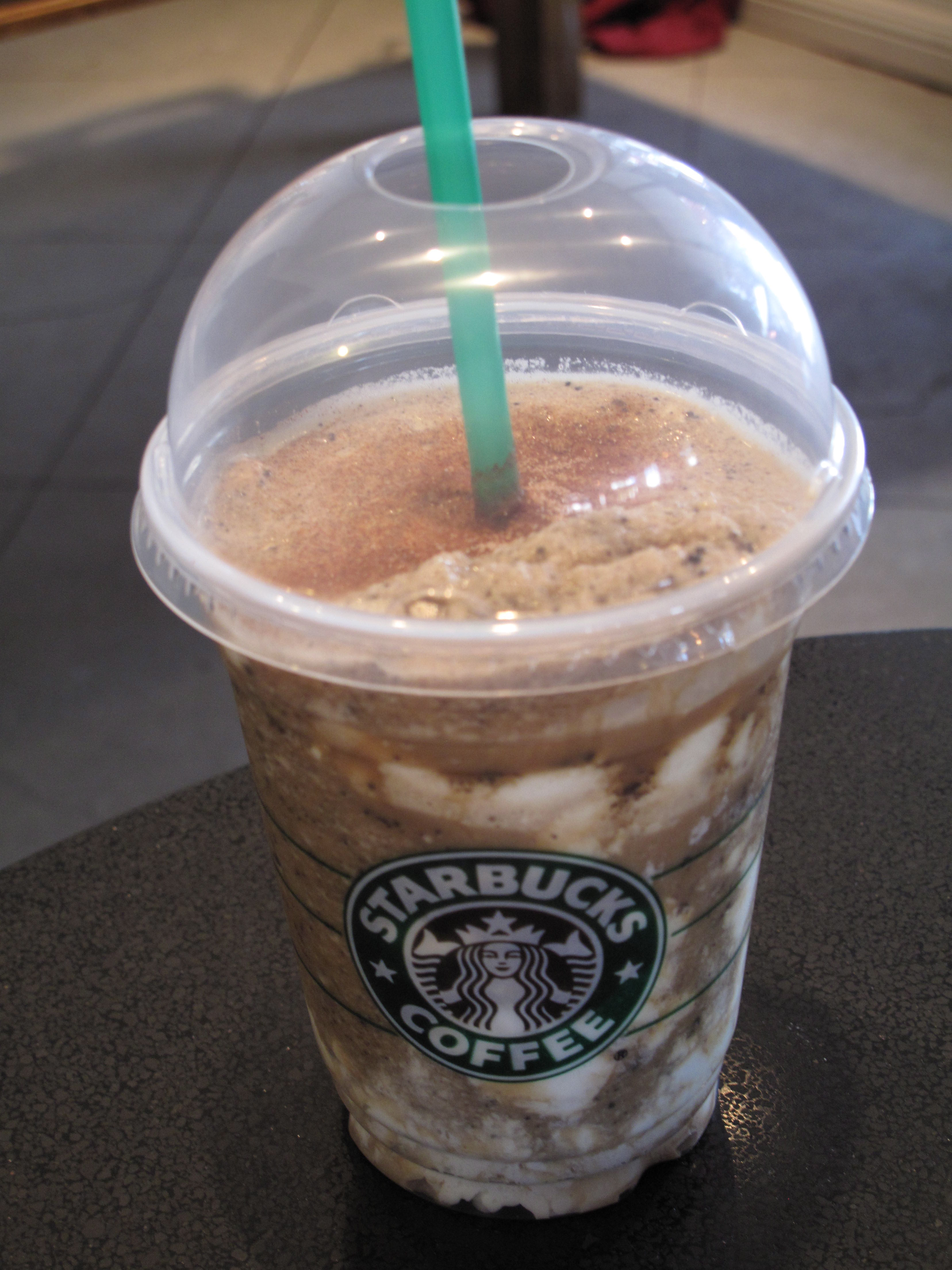 My custom Frappuccino creation.