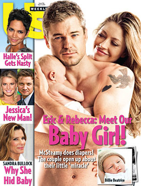Pictures of Eric Dane and Rebecca Gayheart's Daughter Billie
