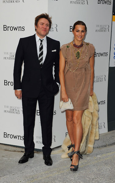 Here's a surprise cameo! Simon and Yasmin Le Bon rocking their handsome couple status. Yasmin's shoes are so cute.