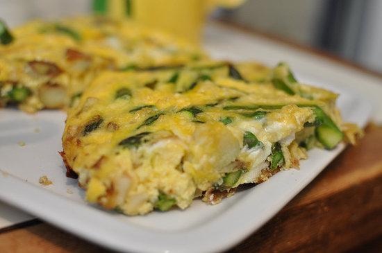 Easy Asparagus and Potato Frittata Recipe