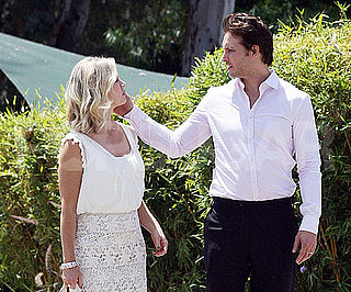Slide Picture of Peter Facinelli and Jennie Garth at School in LA