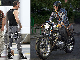 Pictures of Ryan Reynolds Riding a Motorcycle in Louisiana