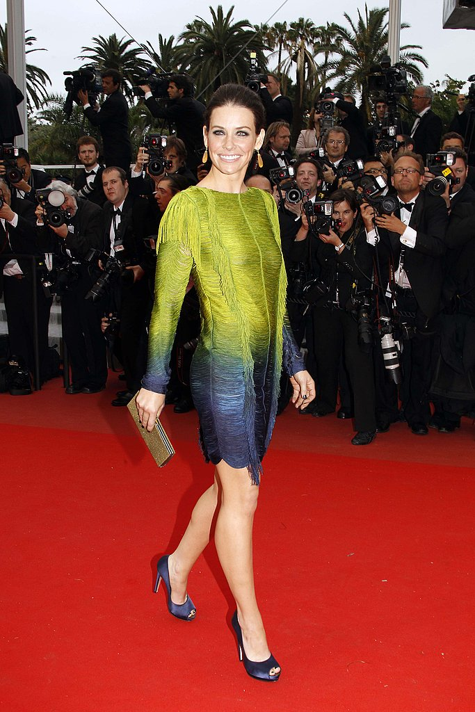 You can tell Evangeline Lilly adored her fun Emilio Pucci frock.