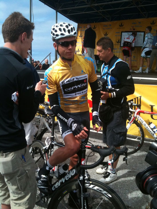 Brett Lancaster in the Yellow Jersey