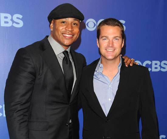 Slide Picture of Chris O'Donnell and LL Cool J at CBS Party in NYC