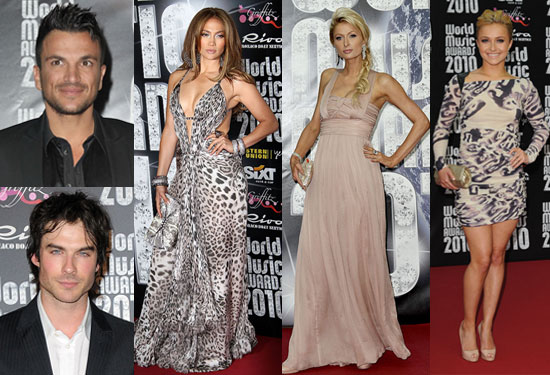 Pictures of Peter Andre, Ian Somerhalder, Jennifer Lopez, Paris Hilton, Hayden Panettiere at 2010 World Music Awards